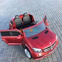 Полноприводный электромобиль Mercedes-Benz GLS63 AMG 2х местный (резиновые колеса, кожа, пульт, музыка)