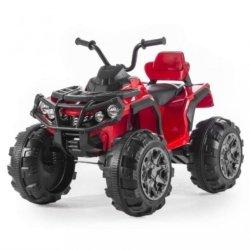 Электроквадроцикл Grizzly 2WD BDM0906 красный (АКБ 12v, колеса резина, сиденье кожа, пульт, музыка)